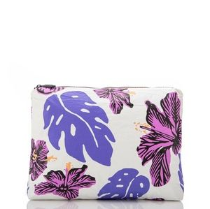 Aloha Collection Pape'ete Pouch Bag Hibiscus Print